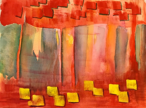 Watercolor: Abstract - Building Blocks 102117
