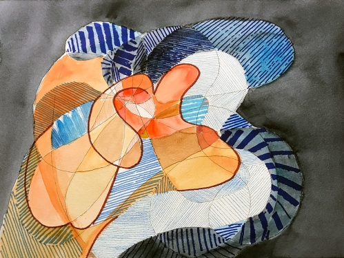Watercolor: Abstract - Nesting Dolls 093017