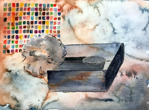 Watercolor: Abstract - Dream Image: Chicago, Handmade Automobile 100717