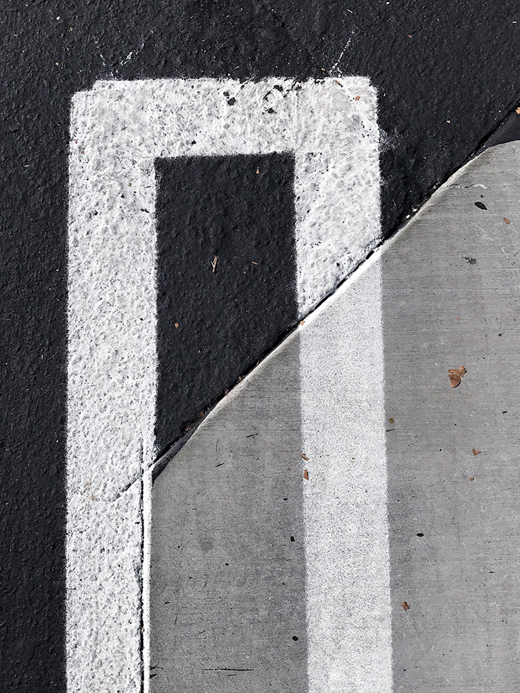 Photography: Abstracted Lines Painted on Asphalt and Concrete 101417