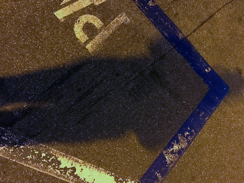Photography: Street Photography - Parking Lot Shadow at Night 102517
