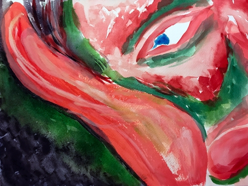 Watercolor: Abstract - Portrait Resting 100217