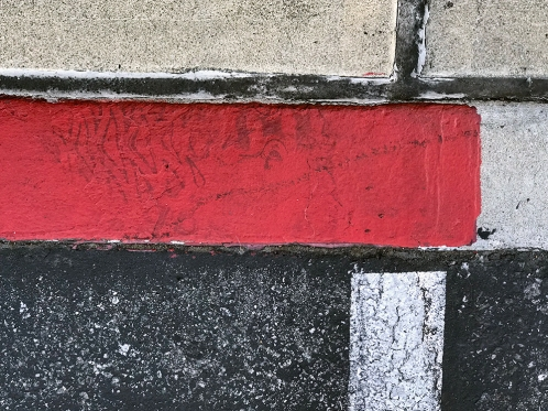 Photography: Street Photography - Edge of Curb with Red 103017