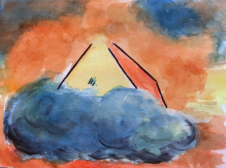Watercolor: Abstract - Rest in the Clouds 101917