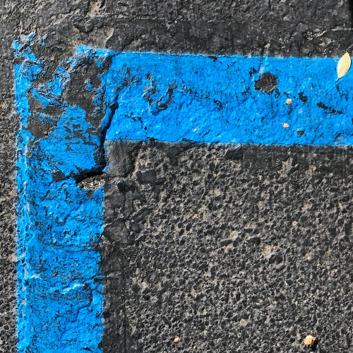 Photography: Painted Lines on Parking Lot - Right Angle 102217