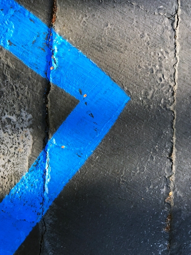 Photography: Painted Lines on Parking Lot - Rightish Angle 102217