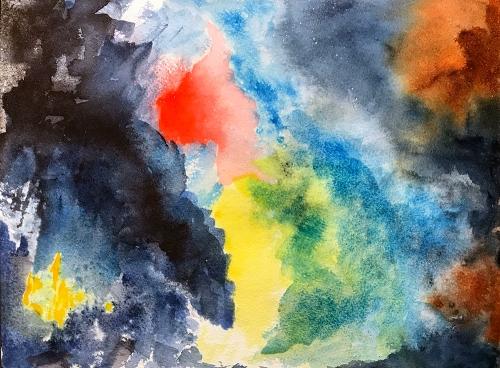Watercolor: Abstract - Nebula 100617