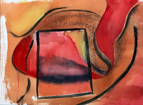Watercolor: Abstract -Window 102517
