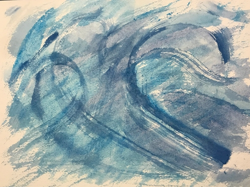 Watercolor: Abstract - Blue Edgelessness 111717