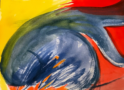 Watercolor: Abstract - Blue Figure 111517