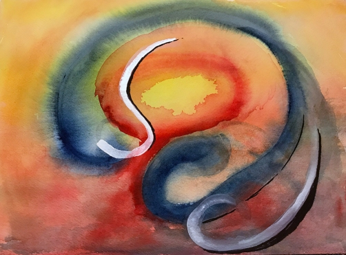 Watercolor: Abstract - Concussion 112817