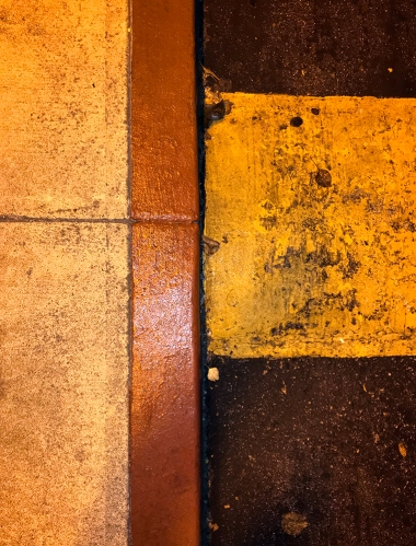 Photography: Street Photography - Speed Bump under Yellow Street Light 110917