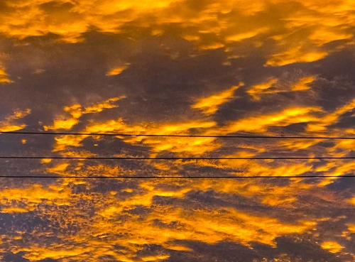 Photography: Sky Photography - Early Morning Clouds on the Line 112617