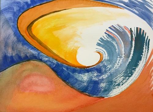 Watercolor: Abstract - Feathered Infundibulum 110417