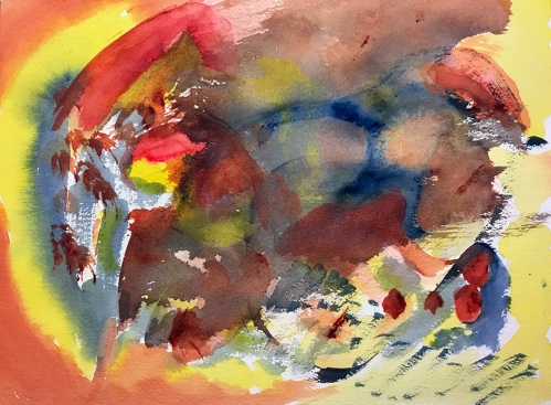 Watercolor: Abstract - Fox 112617
