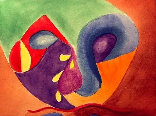 Watercolor: Abstract Mask 110317
