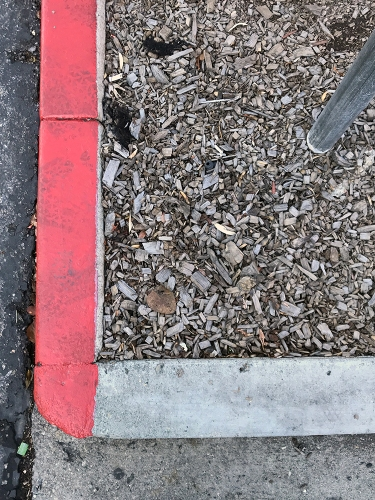 Photography: Street Photography - Red Curb, No Shadow 111717