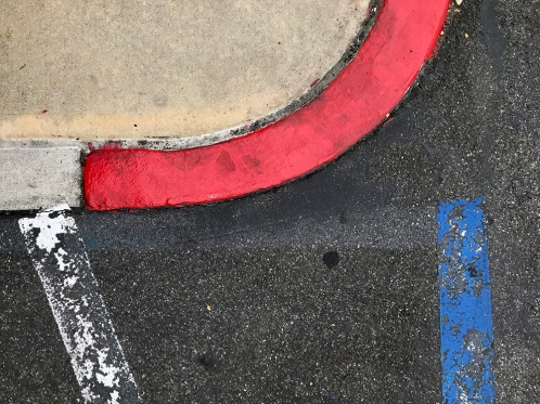 Photography: Red Curb and Curve 110217