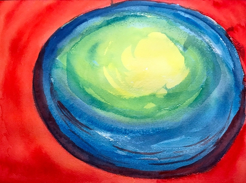 Watercolor: Abstract - Oblate Spheroid 112217