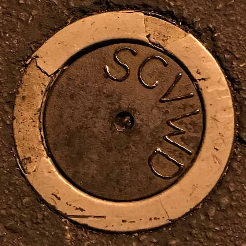 Photography: Street Photography - Street-Hole Cover at Night 111417