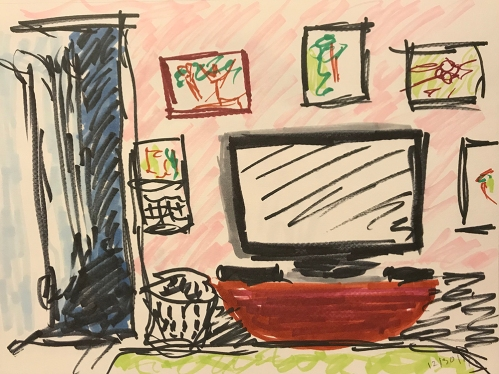 Marker Sketch: View from a Room 123017
