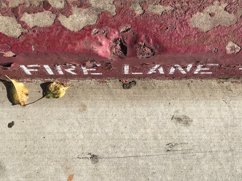 Photography: Street Photography - Fire Lane Curb 120417