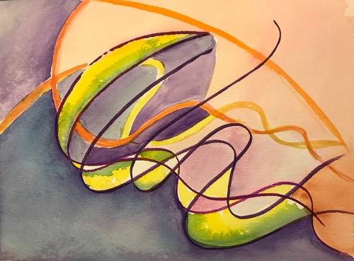 Watercolor: Abstract - Jelly Strands 120117