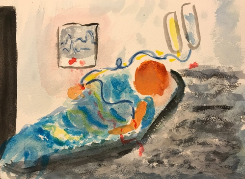 Watercolor: Hospital - Slippery Slope 121417