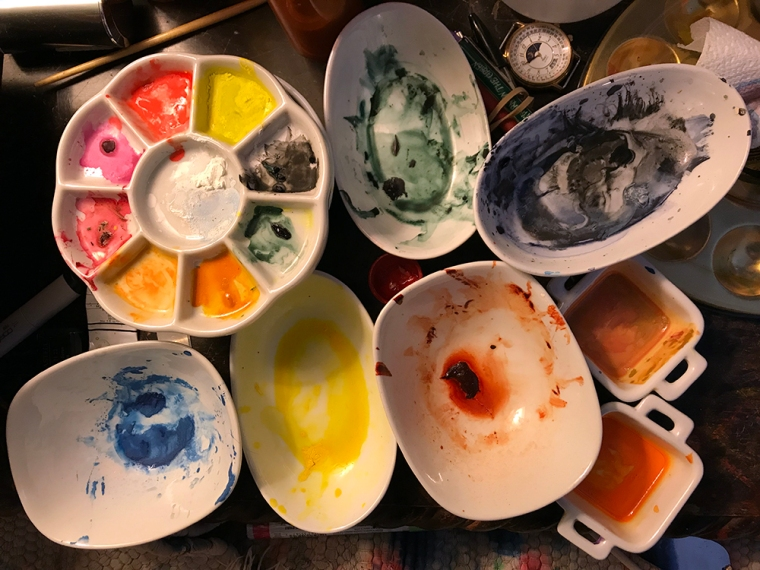 Photography: Painting Paraphernalia in Studio 122917