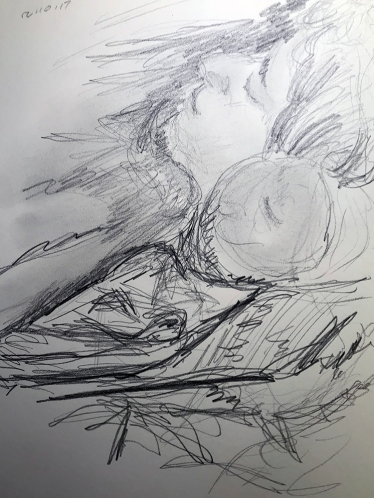 Sketch: Portrait - Sick Person in Bed 121017
