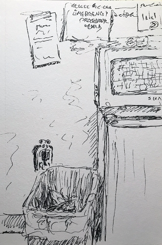Pen and Ink: Break Room 012218