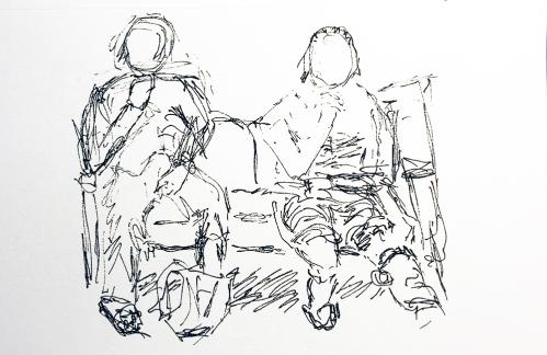 Pen and Ink: Bum Leg b 012418