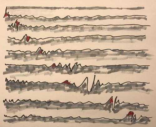 Marker Sketch: Diagonal Blips 010218