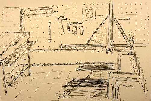 Pen and Ink: Frame Shop 013118