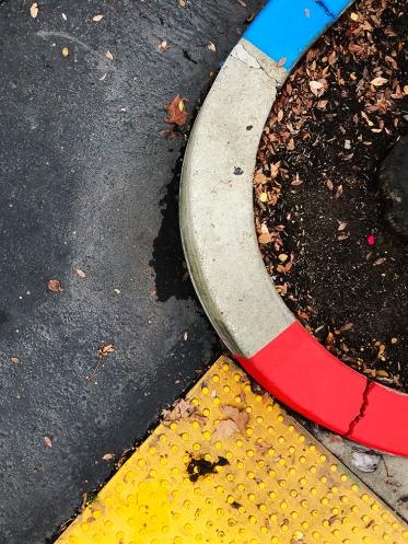 Photography: Street Photography - Painted Stripes on Curved Curb 101018