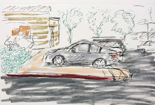 Sketch: Lunch in the Car at Work 010718