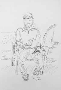 Pen and Ink: Man in Waiting 012918