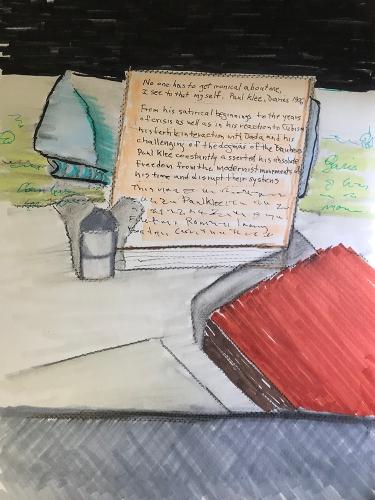 Marker Sketch: New Paul Klee Book 010218