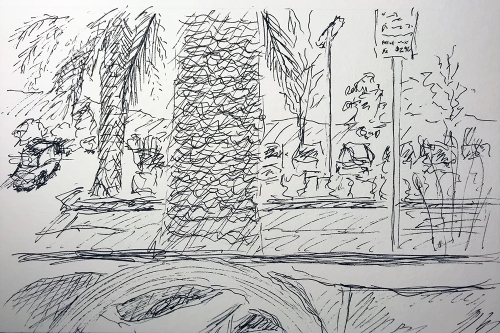 Pen and Ink: Parking Lot Moment 011618