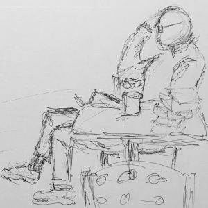 Pen and Ink: Short-Legged Man 012918