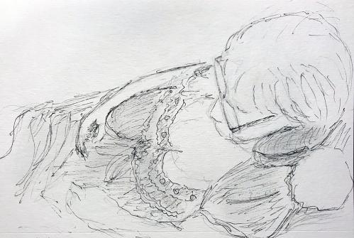 Sketch: Sleepy Woman 010418