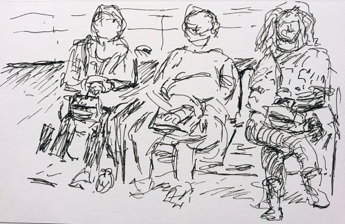Pen and Ink: Waiting Room Waiters 011118