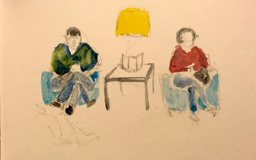 Watercolor: Dentist's Waiting Room 020118