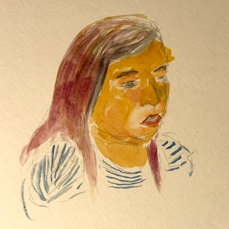 Watercolor: Thumbnail - Portrait Bravery 020318