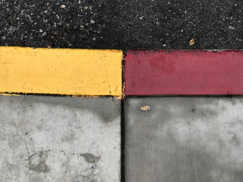 Photography: Street Photography - Yellow Red Curb