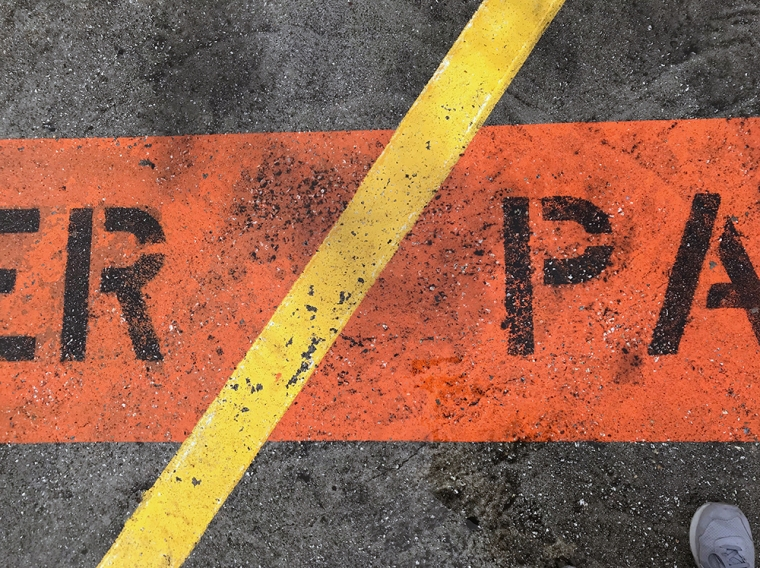 Photography: Street Photography - Very Big Parking Lot Sign