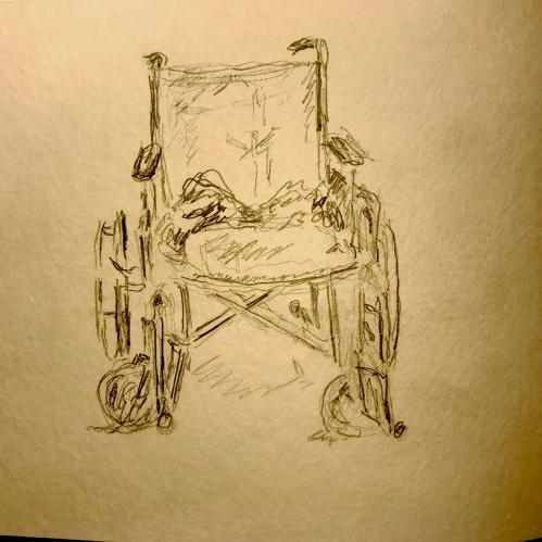 Sketch: Wheelchair Portrait 020918