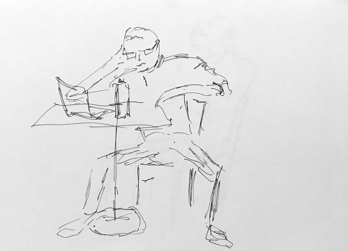 Sketch: Pen and Ink - Angular Man
