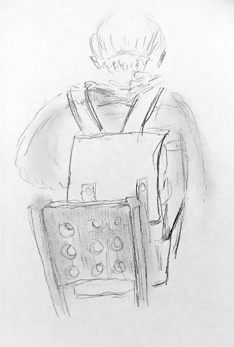 Sketch: Pencil - Backpack