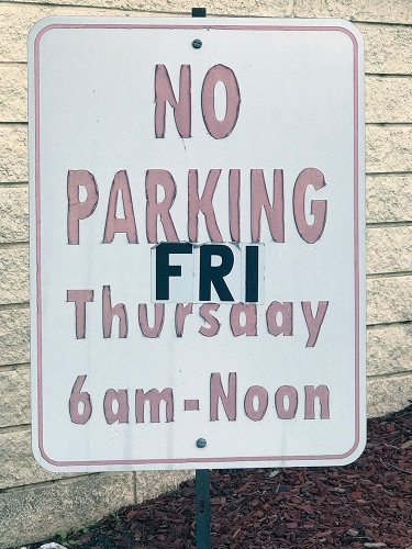 Photograph: Street Photography - Parking Sign